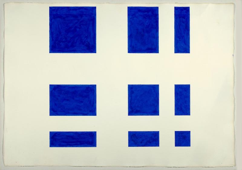 paul morgensen, no title (9 part cobalt blue)
