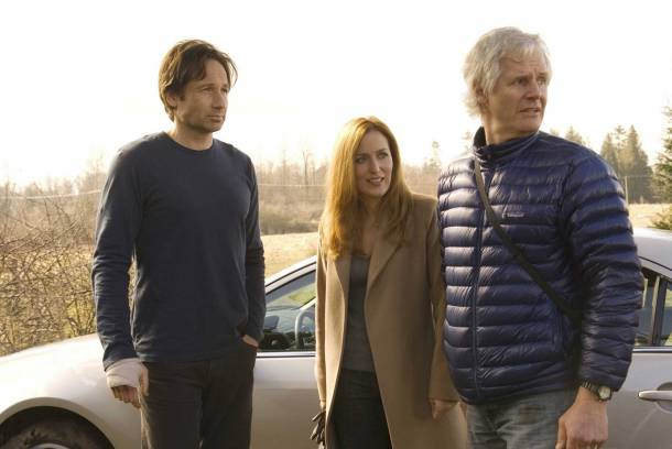 Chris Carter, with David Duchovny and Gillian Anderson. Courtesy of NY Magazine.