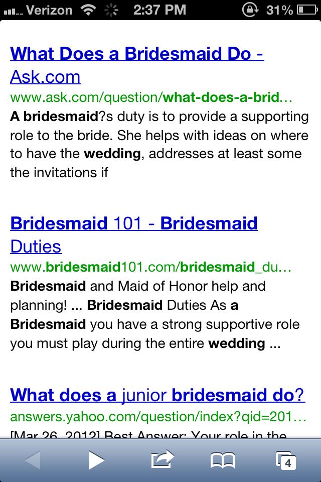 bridesmaid research