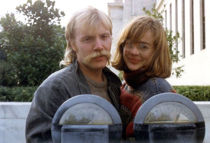 george saunders and his wife paula in 1986, via the new yorker