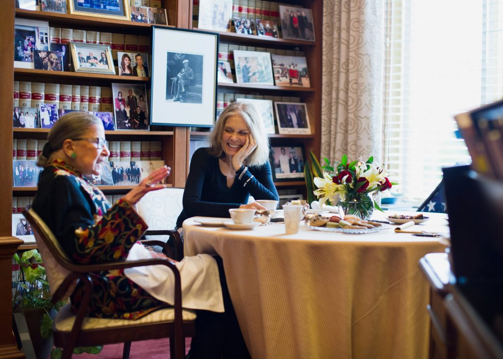ruth bader ginsburg & gloria steinem courtesy of ny times