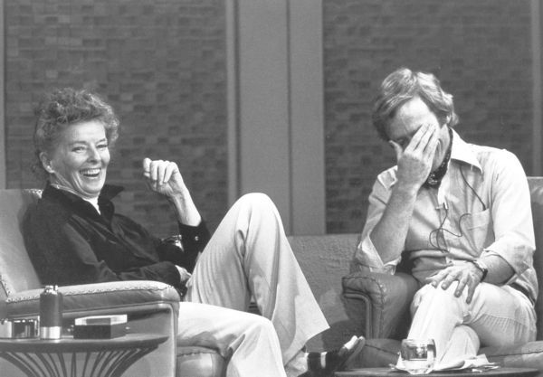 photo of katharine hepburn and dick cavett. courtesy of open culture