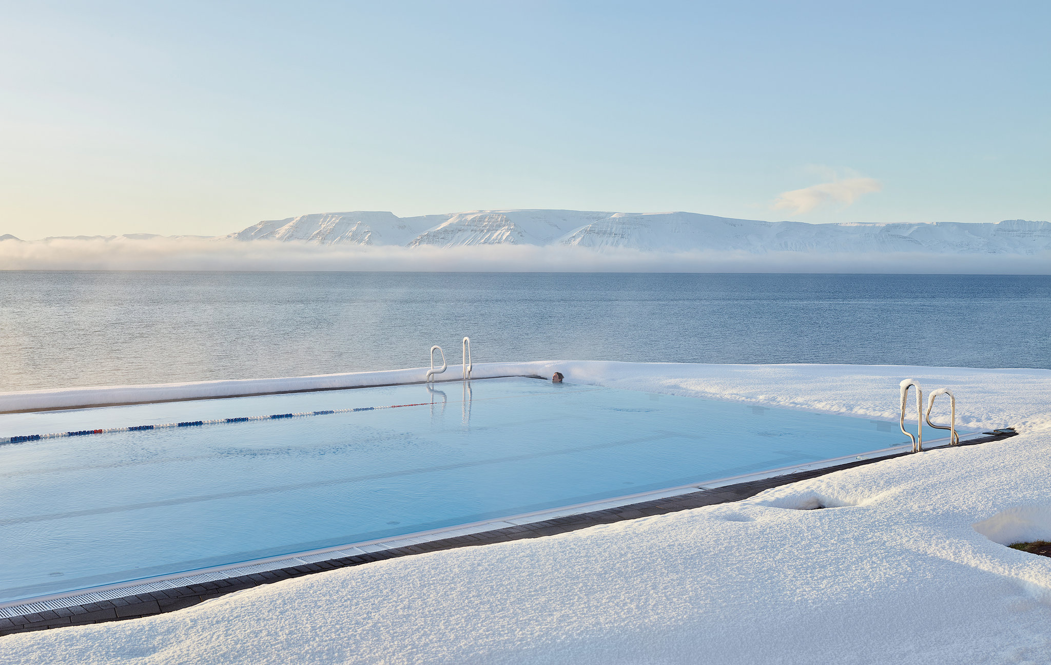 The pool in Hofsos, an old trading port on the northern coast. Credit Massimo Vitali for The New York Times