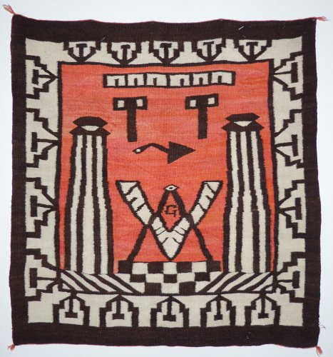 Navajo Pictorial Textile with Masonic Symbol. Courtesy of Shiprock Santa Fe
