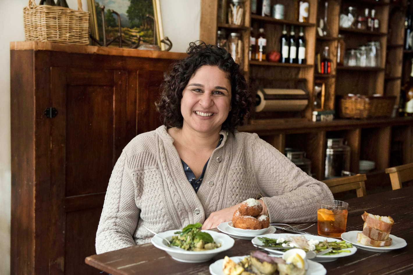 samin nosrat At Via Carota. Photo: Liz Clayman