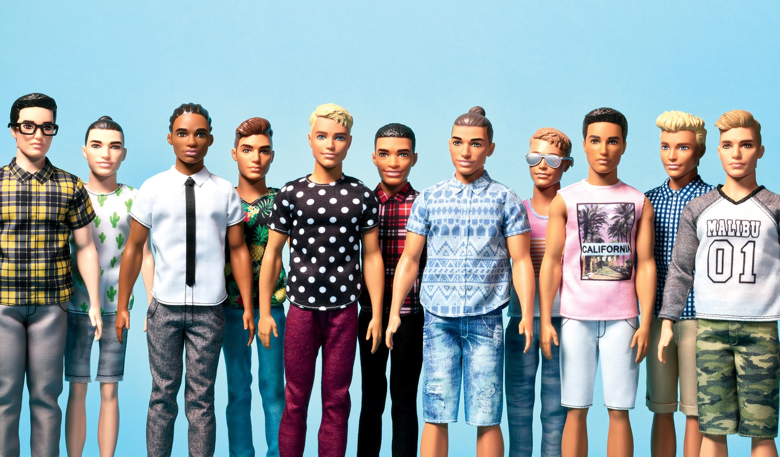 ken dolls of the future. courtesy of gq.