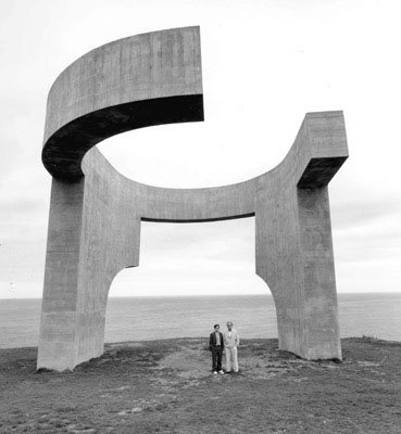 the eulogy to the horizon by Eduardo Chillida gijon, spain