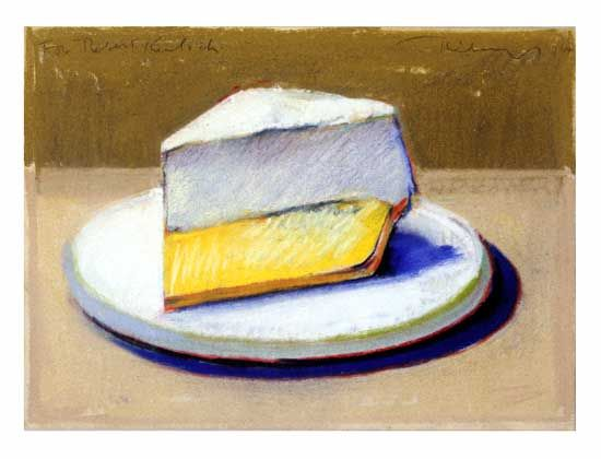 Wayne Thiebaud, Lemon Meringue Pie, 1964