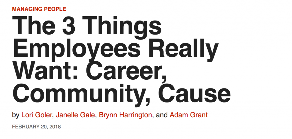 Harvard Business Review: What Employees Want