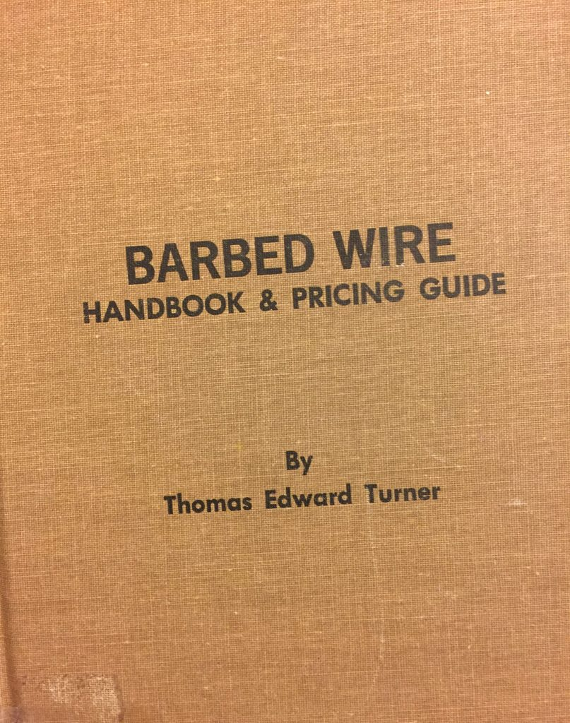 barbed wire handbook by thomas edward turner