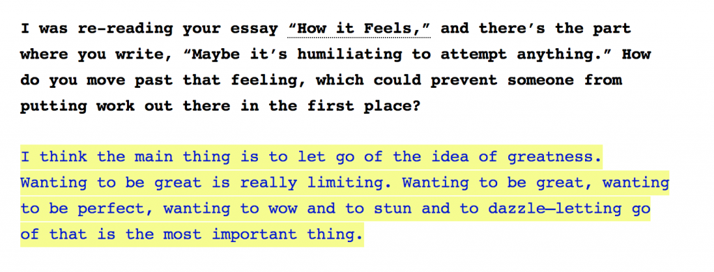 excerpt from an interview with poet jenny zhang in the creative independent