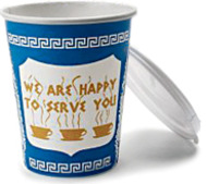 anthora coffee cup designed by leslie buck, via the ny times