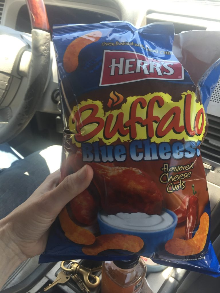 buffalo blue cheese cheese curls