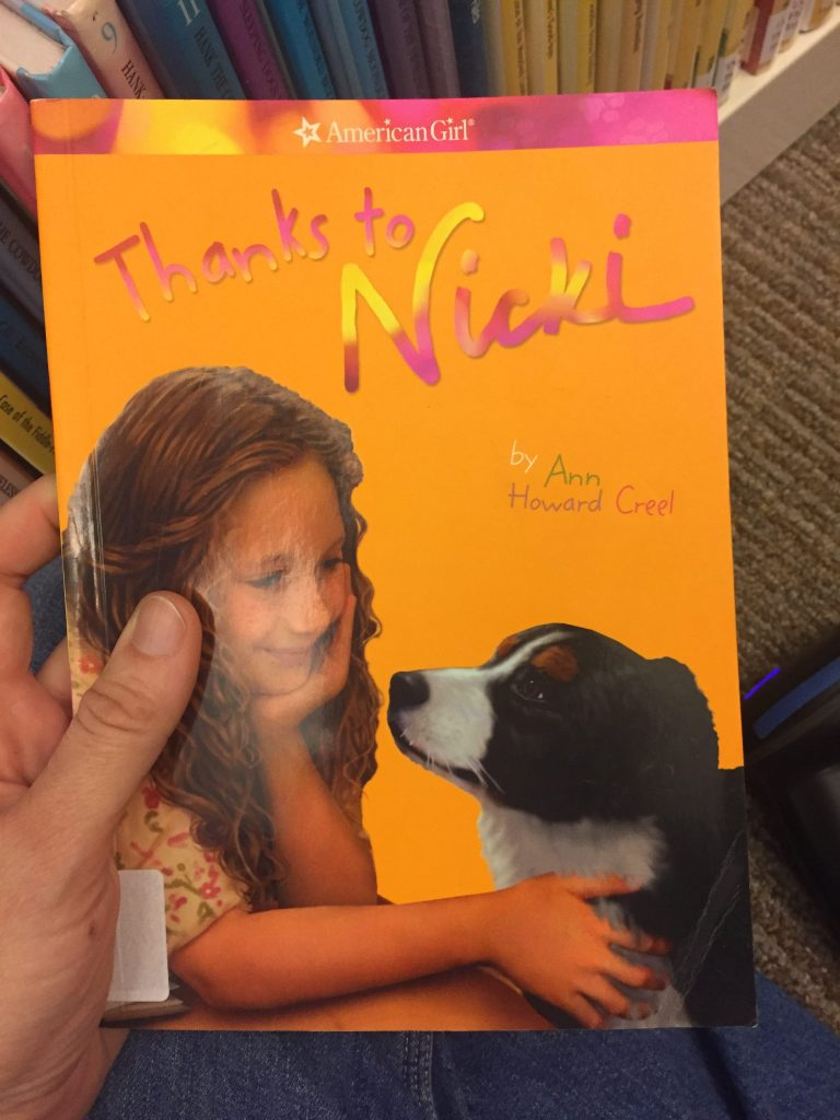 """thanks to nicki"" an american girl book"