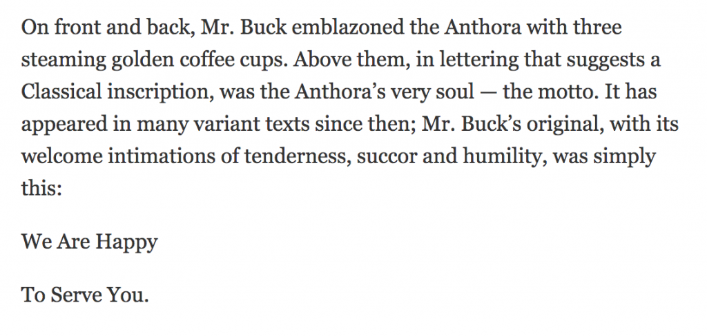 new york times obituary snippet for leslie buck