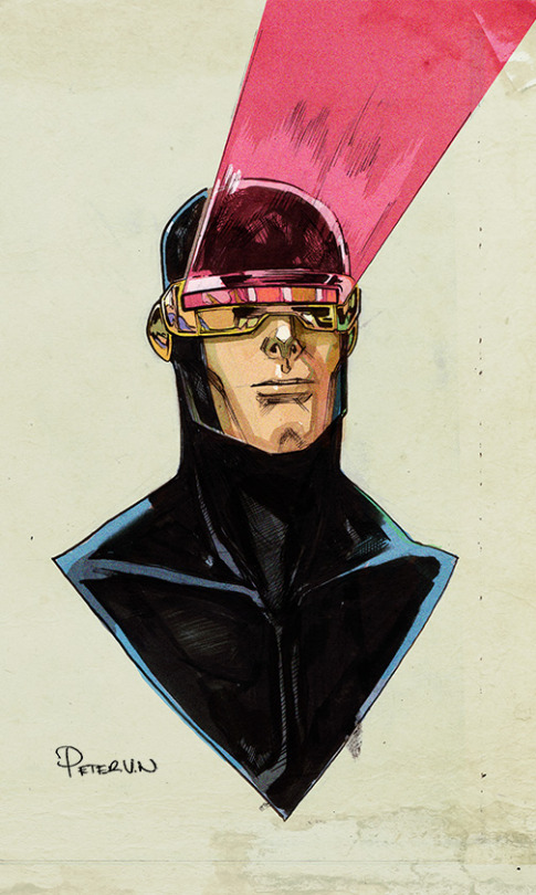 Rendering of Cyclops (X-men hero) by PETER V NGUYEN.