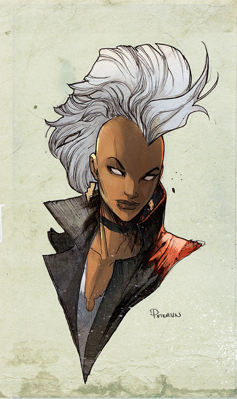 Rendering of Storm (X-men hero) by PETER V NGUYEN.