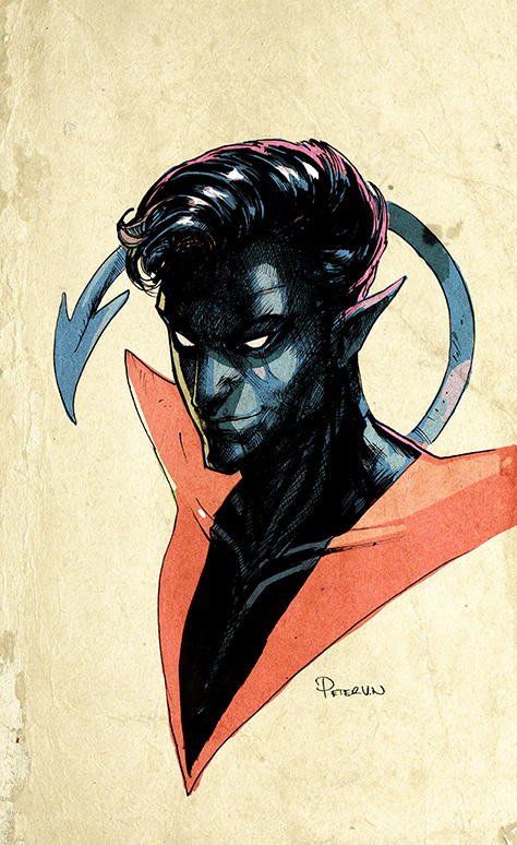 Rendering of Nightcrawler (X-men hero) by PETER V NGUYEN.