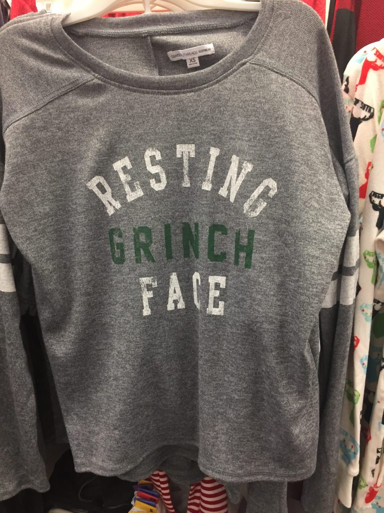 resting grinch face at target