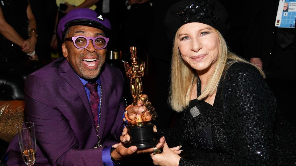 Spike Lee and Barbra Stresisand. Oscars 2019. Courtesy of Getty Images.