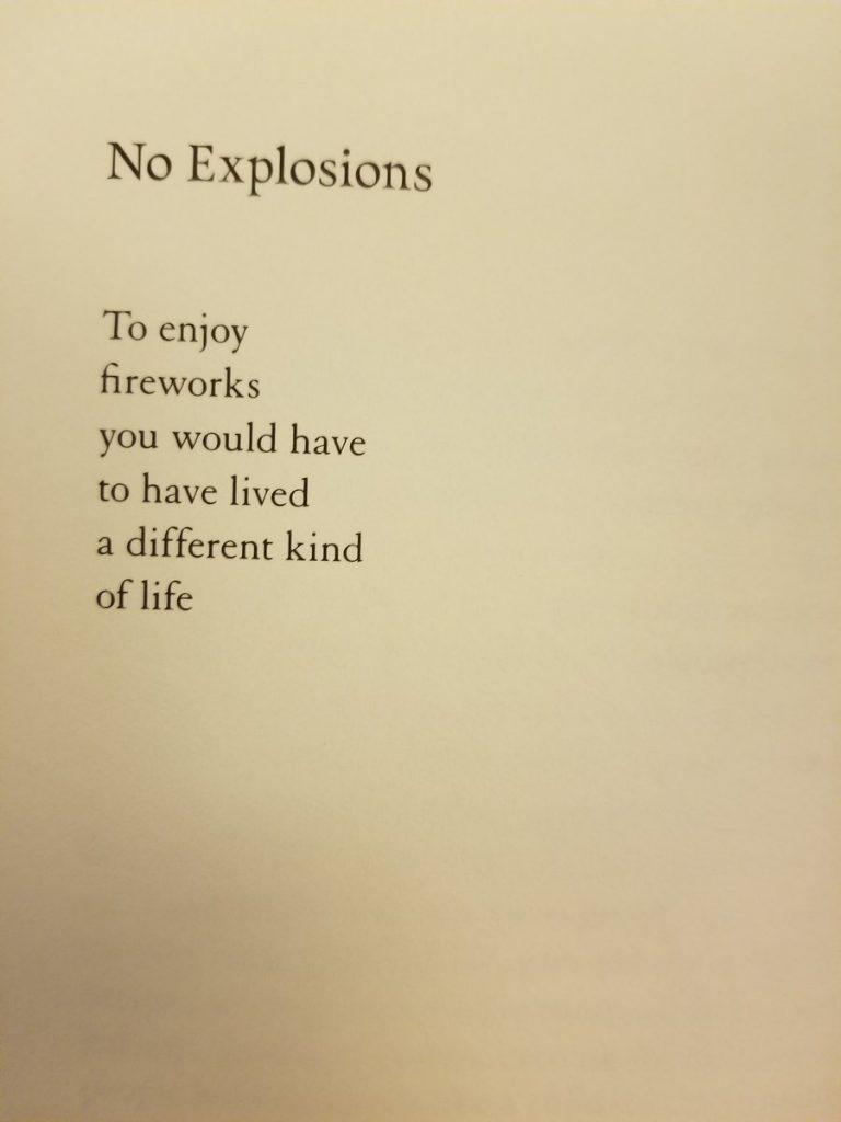 no explosions by naomi shihab nye