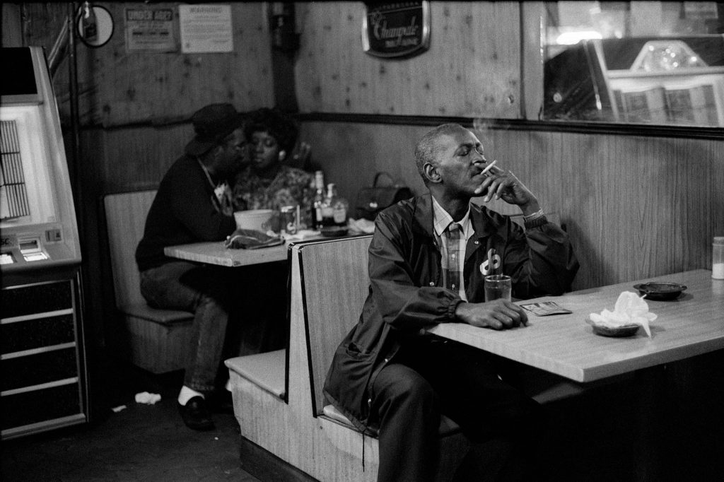 """Smoke and Lovers,"" Memphis, Tenn. 1992. Featured in ""Kamoinge's Half-Century of African-American Photography.""CreditFrank Stewart"