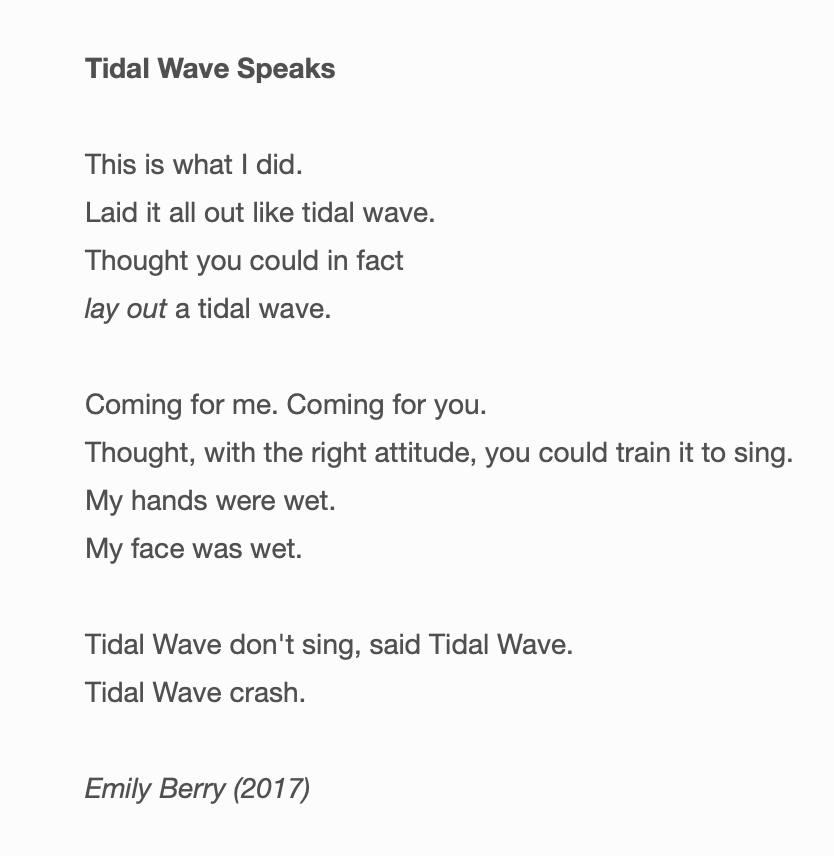 "emily berry, ""tidal wave speaks"""