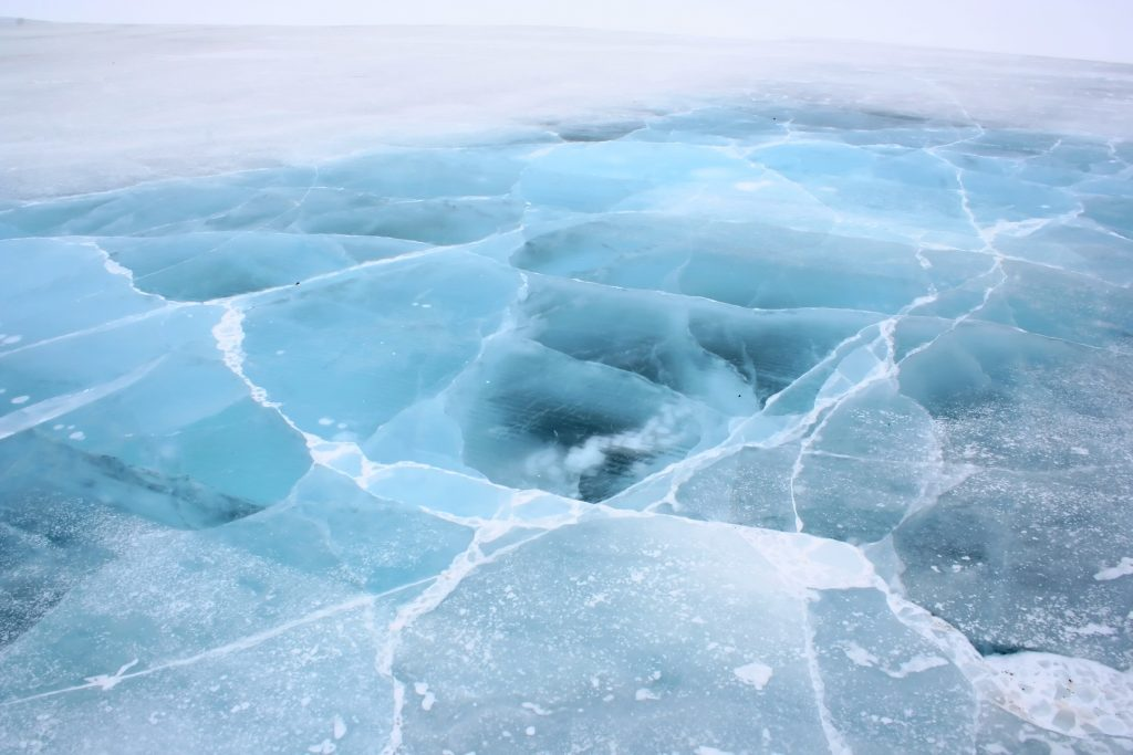 ice road in the northern territories
