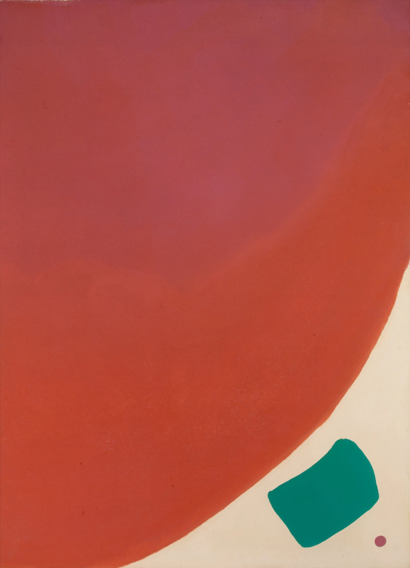 "Jules Olitski, ""Fatal Plunge Lady"" (1963) (via ny times)"