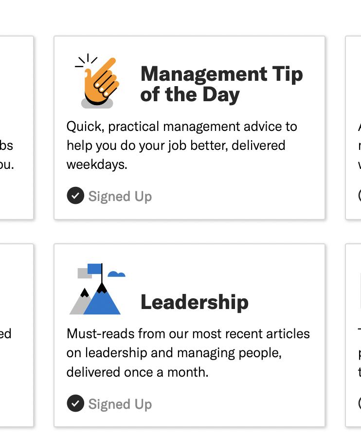 harvard business review leadership newsletter