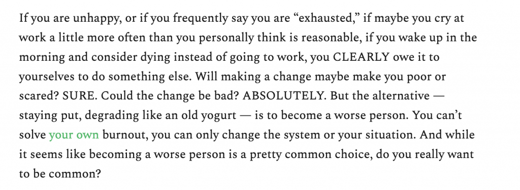 excerpt about burnout from choire sicha's new newsletter