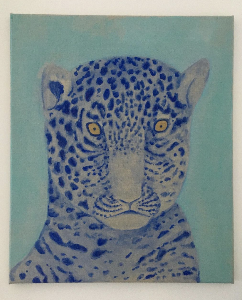guy rubicon, leopard. oil on canvas. courtesy of instagram.
